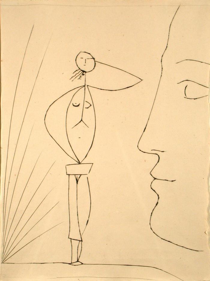 Profile and Female Figure
