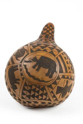 Gourd Bowl with Animal Motif