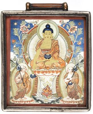 Shakyamuni Buddha with His Disciples Shariputra and Maudgalyayana
