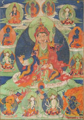 Padmasambhava Surrounded by Meditational Deities