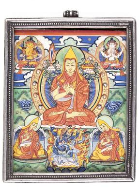 Tsongkhapa with Disciples and Deities