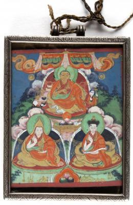 Zanabazar with Two Lamas