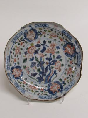 Scalloped Dish with Floral Motifs