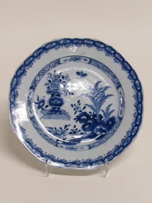 Dish with Bee, Rock and Vase Design