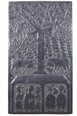 Figures and Animals Beneath a Tree