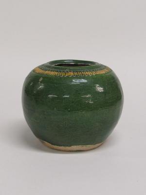 Green and Yellow Jar