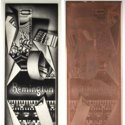 Remington Strip Tease and Cancelled Printing Plate