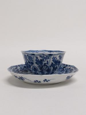 Cup and Saucer with Floral Motifs