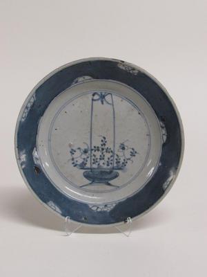 Dish with Flower Basket Motif