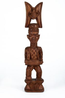 Shrine Figure of a Standing Bata Drummer