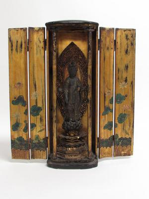 Votive Shrine with Image of Bodhisattva Kannon