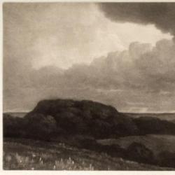 Landscape Under Stormy Sky
