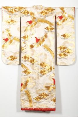 Wedding Kimono with Pheasants and Floral Lozenges