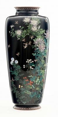 Vase with Chrysanthemums and Birds