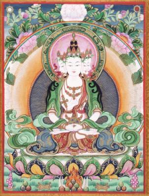 Sarvavid Vairochana Buddha
