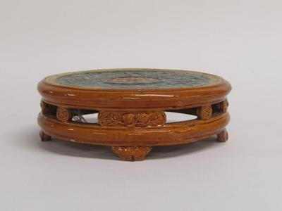 Circular Stand with Dragons and Auspicious Symbols