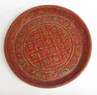 Tray with Stylized Floral Designs