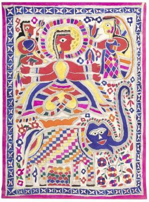 Indra Riding Elephant