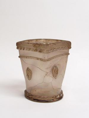 Square Jar with Lion Medallions
