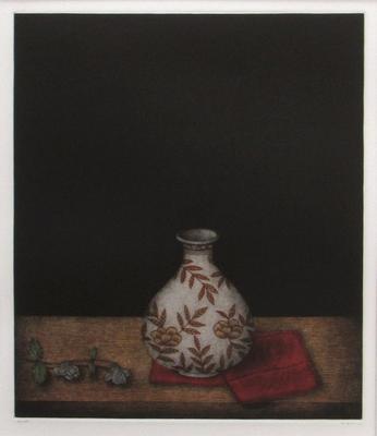 Vase, Napkin and Flower