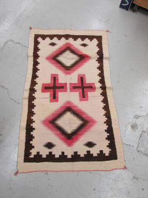Rug with Double Cross and Diamond Design