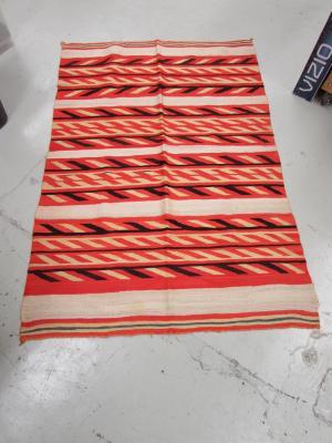 Saddle Blanket with Horizontal Stripes