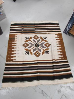 Chimayo Rug with Floral Medallion