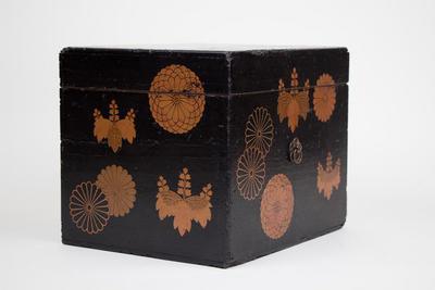 Document Box with Paulownia and Chrysanthemum Designs