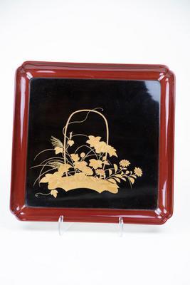 Dish with Flower Basket Design