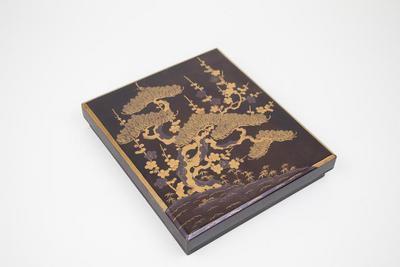 Writing Box with Pine Tree Design