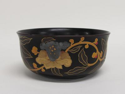 Lacquer Bowl with Floral Design