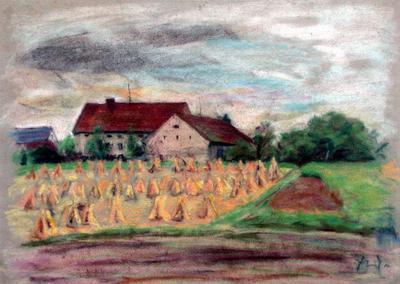 Farm Scene, German Farm