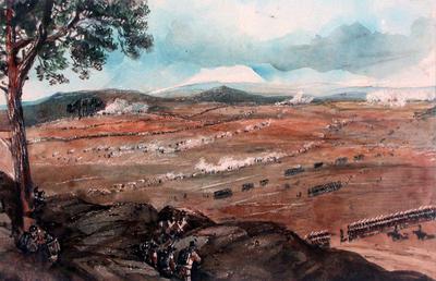 Battle Scene from the Franco-Prussian war