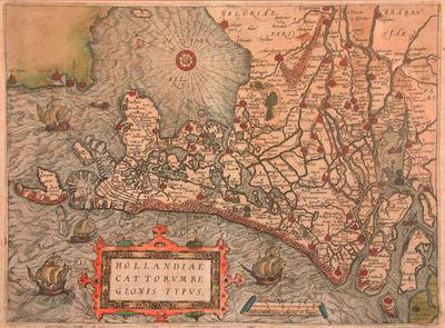 Map of the Netherlands and De Zuyder Zee