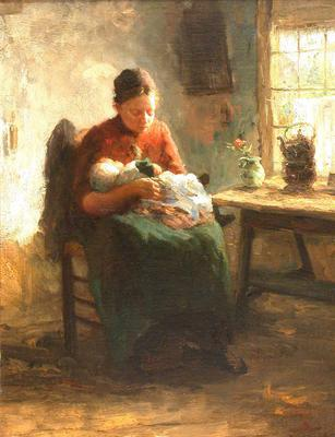 Mother and Child in an Interior