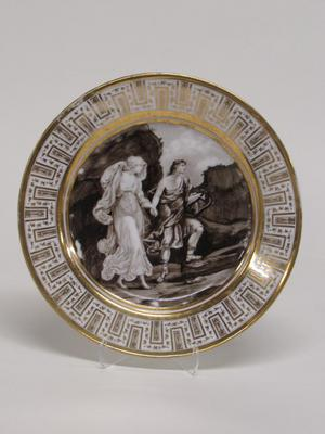 Dinner Plate with Apollo and a Muse