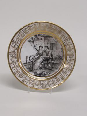 Dinner Plate with Courting Couple