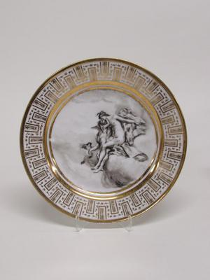 Dinner Plate with Cupid and Goddess