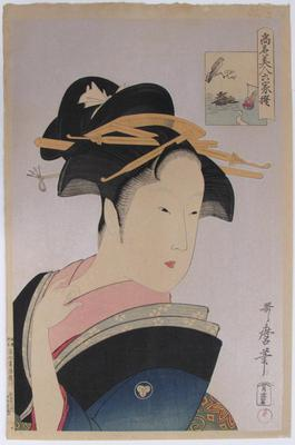 Takashima Ohisa, from the series Famous Beauties Likened to the Six Immortal Poets