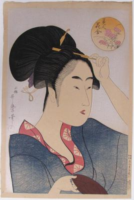 Beauty Dressing Her Hair, from the series Beauties Compared to Flowers