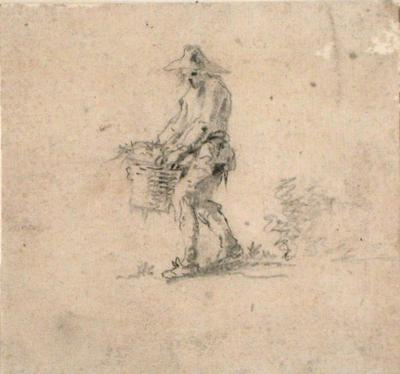 Figure Carrying a Basket