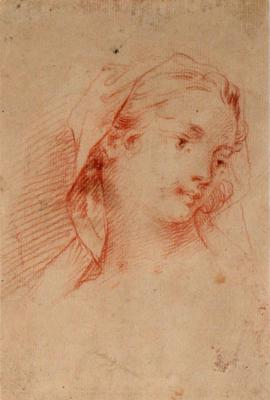 Study of a Girl's Head, Turned Right