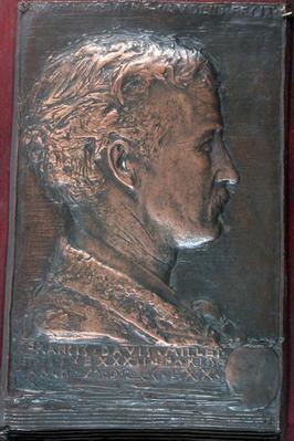 Bas-Relief Portrait of Francis Davis Millet, Paris