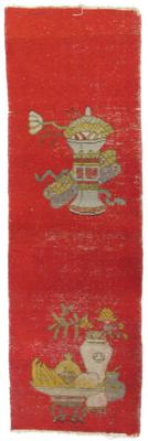 Pair of Narrow Rugs with Still-Life Motifs