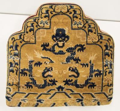 Throne Cushion with Rampant Dragon
