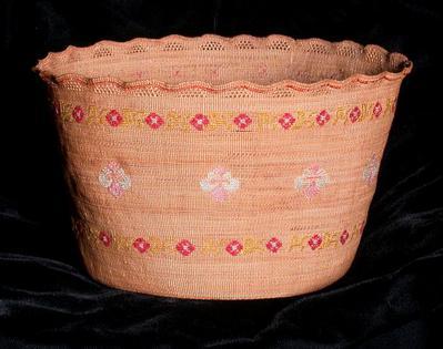 Basket with Floral Design