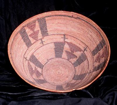 Polychrome Bowl with Stacked Triangles
