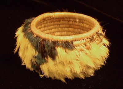Miniature Feather Basket
