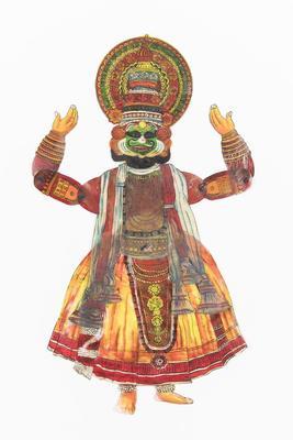 Kathakali Dancer Shadow Puppet