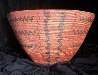Basket with Zig-Zag Designs